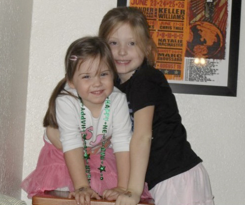 Lily & Gracie - New Year's Eve 2010
